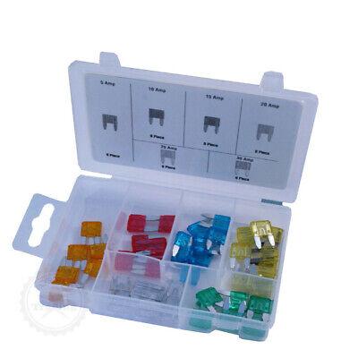 60tlg.Kfz Elektrik Sicherungen Flachstecksicherung Mini +Aufbewahrungsbox