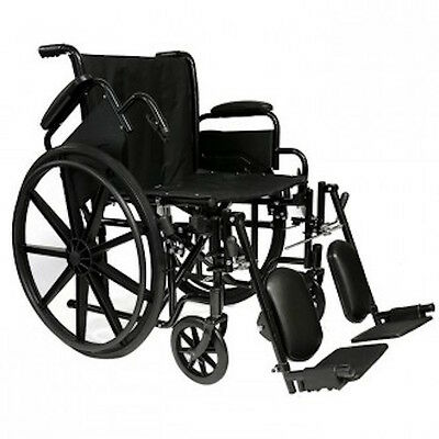 "NEW Invacare Probasic 18"" Lightweight Folding Wheelchair w/Elevating Legrests"
