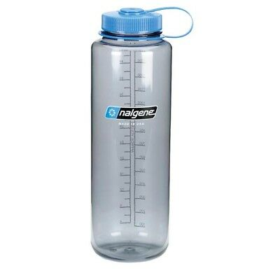 Nalgene Tritan Silo 48oz Wide Mouth Hiker Bottle Grey Mouth Tritan Water Bottle