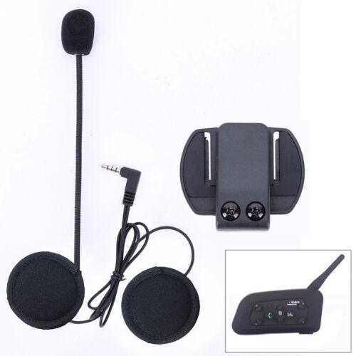 Mic/Speaker Headphone/Headset+Clips for V6 Motorcycle Bluetooth Helmet Intercom