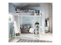 Ikea Stora loft double bed frame.