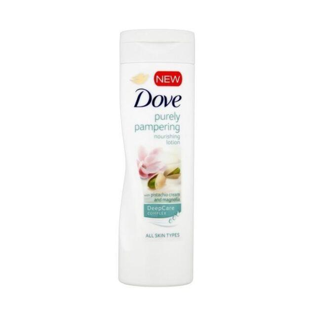 4x Dove Purely Pampering Nourishing Lotion With Pistachio Cream & Magnolia 250ml