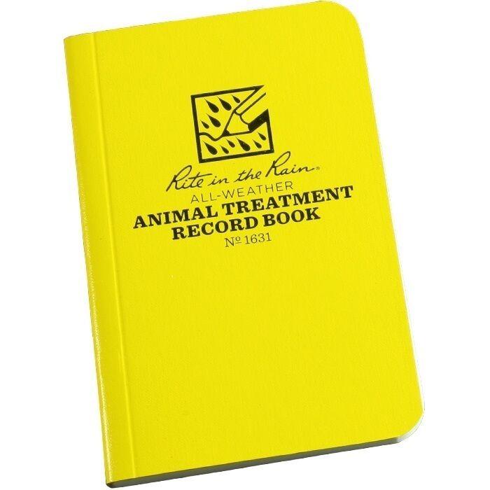 "Rite in the Rain 1631 All-Weather Animal Treatment Record Book, 3"" x 4 5/8"""