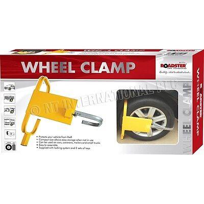 CAR VAN WHEEL HEAVY DUTY CLAMP SAFETY LOCK FOR CARAVANS TRAILERS SMALL TRUCKS