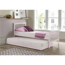 Oxford Single Guest Bed in Pink - Trundle Bed Included