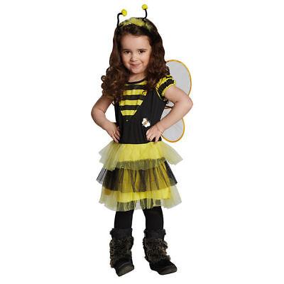 Kinder-Kostüm Bienchen mit Flügeln Tier-Kostüm Fliegen Biene Bienenkostüm   - Bienen Kostüm Kinder