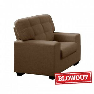 NEW! Tufted Back Rest Chair-Available in Dark Brown or Dark Grey