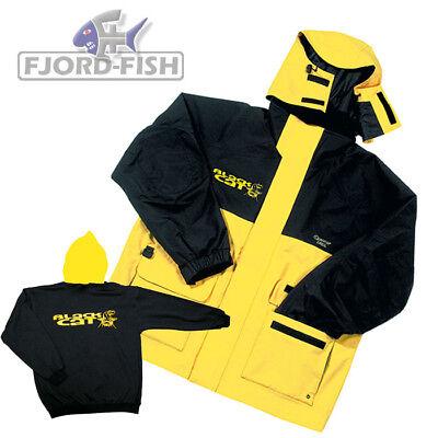 Sale Black Cat Outdoorjacke wind-und wasserdicht Anglerjacke Sport gelb schwarz