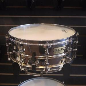 "Tama SLP snare drum chrome over brass 14""x5.5"" avec rims die cast - used/caisse claire usagée"