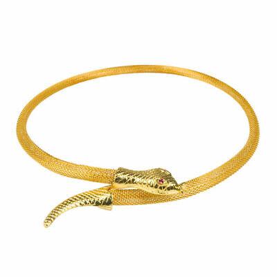 Halskette Schlange gold, Kostümzubehör Ägypter Göttin Schlangenkette - Göttin Kostüm Schmuck