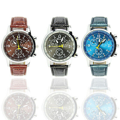 Fashion Casual Sports Watch Stylish PU Leather Wristwatches Men Sports Watches