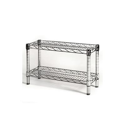 8d X 14h Wire Shelving With 2 Shelves