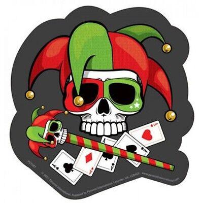 Jester - Aufkleber Sticker - Neu - # 195 - Totenkopf Joker (Skull Jester)