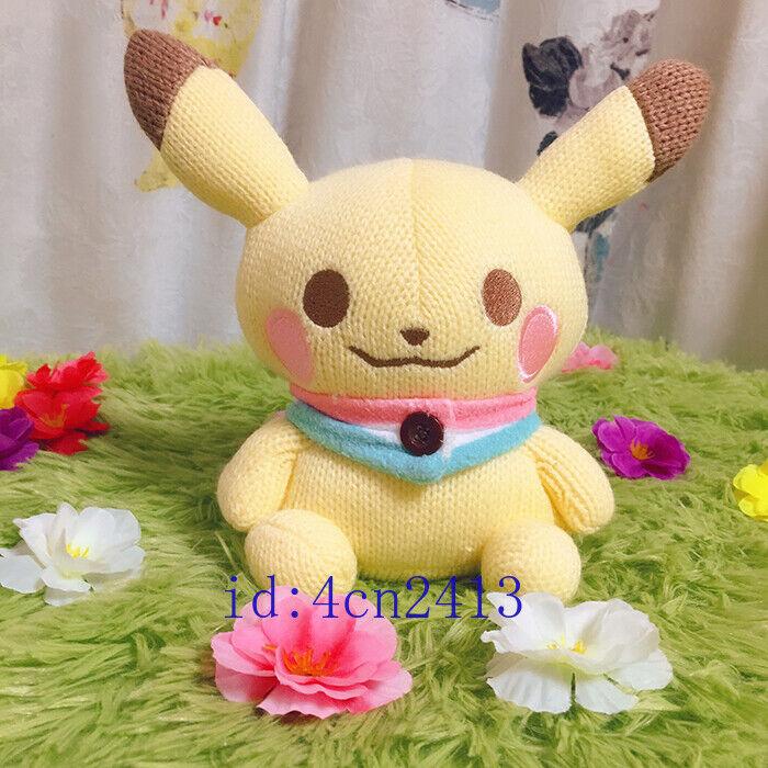 2018 New Pokemon Center Snowman Pikachu Plush Toy  Version Christmas Doll