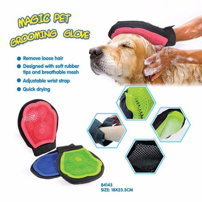 Guanti di pulizia- massagio adatti per la cura dell'animale domestico di gomma