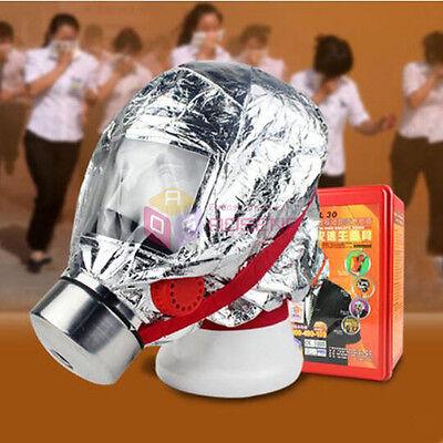 Emergency Escape Hood Oxygen Mask Respirator Fire Smoke Disposable Toxic Filter