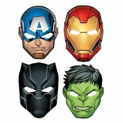 Marvel Avengers Hats/ Masks, 8 Count, Birthday Paper mask Party Supplies