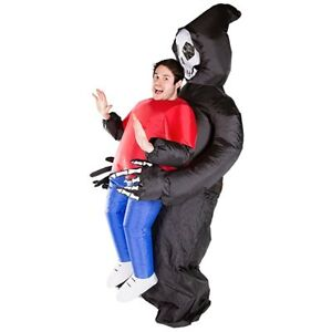 Inflatable Ride Me Adult Carry On Animal Grim Reaper Costume