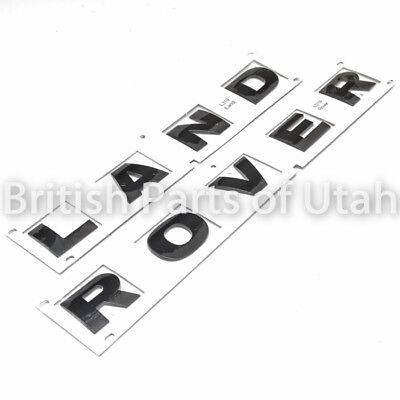Land Rover LR4 Hood Lettering Decal Sticker Emblem Front GLOSS BLACK Genuine OEM