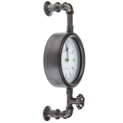 Industrial Pipe Wall Clock Contemporary Home Decor. Great Gift