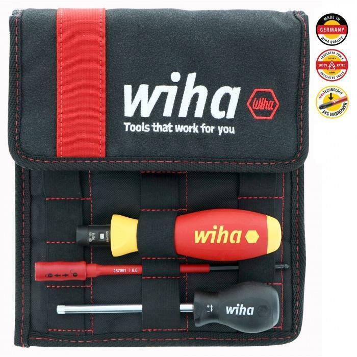 Wiha 11 Piece Insulated Torque Control Electrician Screwdriver Set 10-50 in/lbs