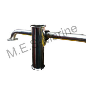NEW FISHING ROD GEAR HOLDER STAINLESS STEEL TUBE FOR BOAT - RAIL MOUNT