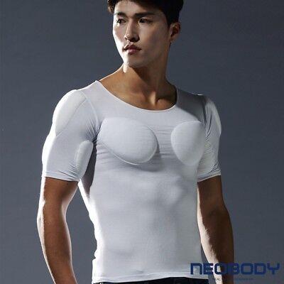 Korea Men Best Shoulder Bust Muscle Correction Round T-Shirt confidence