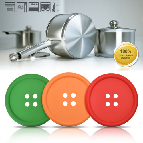 Korea Silicone Frying Pan Pot Kettle Teakettle Stand Kitchen Cooking Tool Button