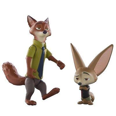 Disney Zootropolis Charakter Figur Packung - Nick und Finnick Brandneu