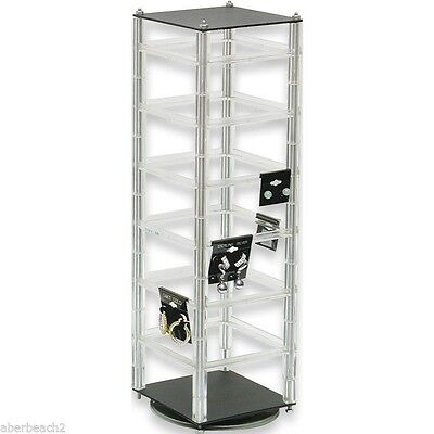 Revolving Earring Display Stand Holds 48 2 Cards