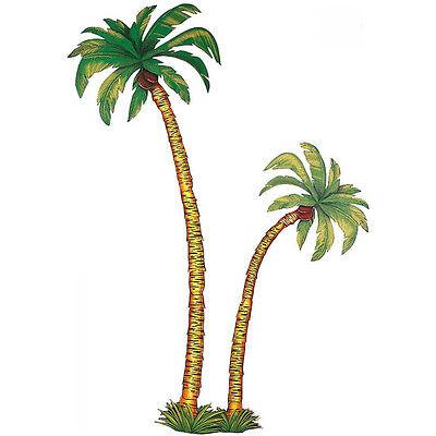 2x GROßE DEKO PALMEN # Hawaii Südsee Karibik Insel Motto Party Fest Zubehör 5057