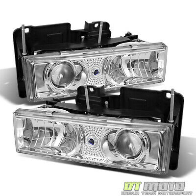 88-98 Chevy C/K 1500 C10 Full Size Projector Headlights Lights Lamps Left+Right