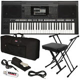Yamaha PSR-S770 Arranger Workstation Keyboard STAGE ESSENTIALS BUNDLE