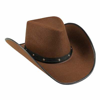 NEU Hut Cowgirl mit Hutband und Nieten, braun