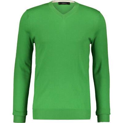 stunning new 100% CASHMERE V neck mens JUMPER by JOSEPH in leaf green XL bnwt