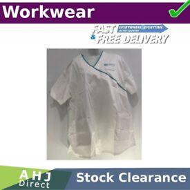 White Medical Scrub Nurse Sister Dress Tunic Health & Social Care