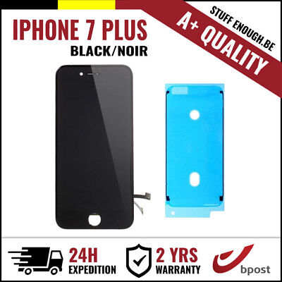A+ LCD TOUCH SCREEN VITRE DISPLAY SCHERM ÉCRAN BLACK NOIR IPHONE 7 PLUS+STICKER