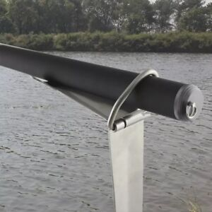 Stainless steel rod holder for fishing
