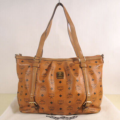 AUTHENTIC MCM Visetos Vintage Shopper Bag + Dust cover