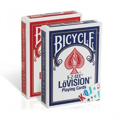 2 Decks Bicycle Lo Vision Easy to See Playing Cards Lovision E-Z Large Index Low Index Playing Cards 2 Decks
