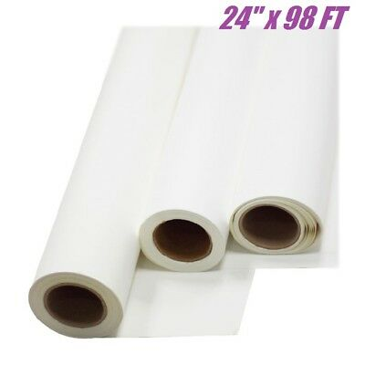 24x98 Ft White Printable Pu Heat Transfer Vinyl Roll T-shirt Heat Press Iron On