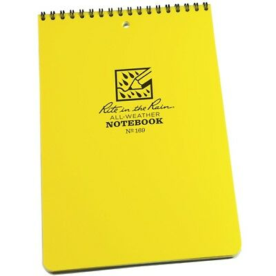Rite In The Rain 169 All-weather Universal Spiral Notebook Yellow 6 X 9