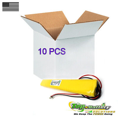 10pc Emergency Lighting Battery 9.6v 800mah Replaces Lithonia Unitech Bbat0043a