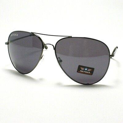 Air Force Classic Aviator Sunglasses Mens Metal Frame GUN (Air Sunglasses)