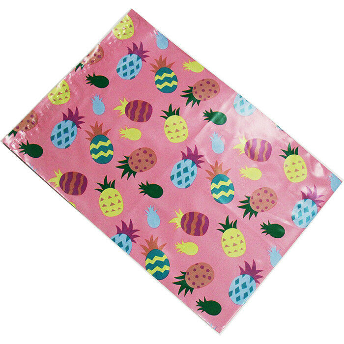 200 10x13 Pink Pineapple Designer Poly Mailers Envelopes Boutique Custom Bags