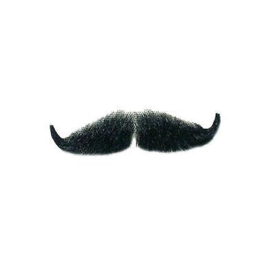 Echthaar Bart (Echthaar Bart Schnauzbart, schwarz Fake Bart   )