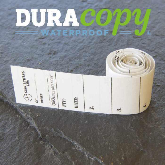 5 x *NEW* GEOLoggers MICRO 1.5cm Geocaching Log Sheet DURACopy WATERPROOF!
