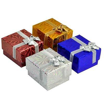 Lot Of 48 Hologram Ribbon Ring Gift Boxes Ring Jewelry Gift Boxes