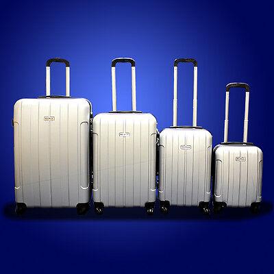 New DeBox 4PCS Luggage Travel Set Bag ABS Trolley Suitcase w/ Lock Sliver