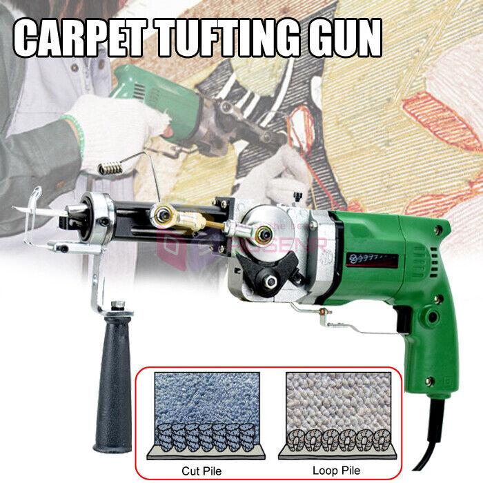 Electric Hand Rug Tufting Gun Portable Carpet Weaving Rug Machine Cut&Loop Pile